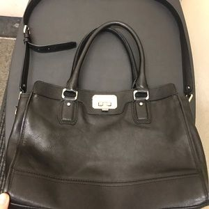 Cold Haan black leather purse with shoulder strap